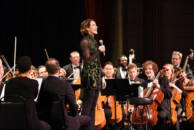 Conductor Alondra de la Parra at a concert in New York, 2014.
