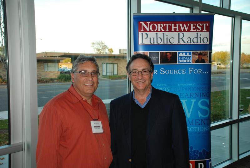 Ronald Schwartz met Ira Flatow, host of Science Friday, during Ira's visit to the Tri-Cities in October 2012.