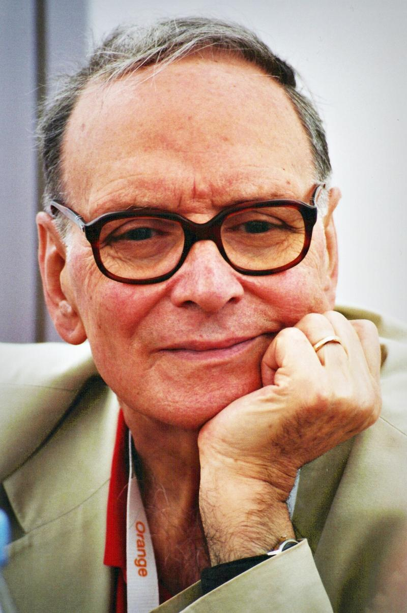 """The H8ful Eight"" marks the fifth film colaboration for director Quentin Tarantino and composer Ennio Morricone, pictured here."