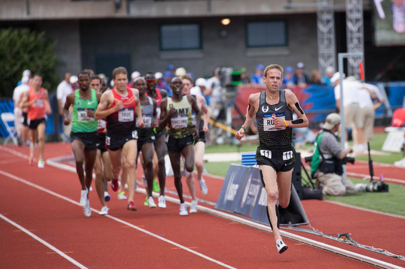 File photo of Galen Rupp competing at U.S. Olympic Track and Field Trials in July.