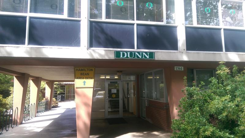 Dunn Hall is a dorm building on the UO campus.