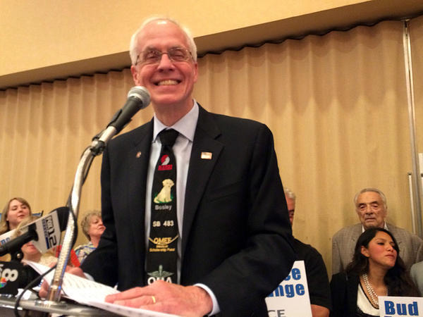 Oregon gubernatorial candidate Bud Pierce is dropping his support for Donald Trump