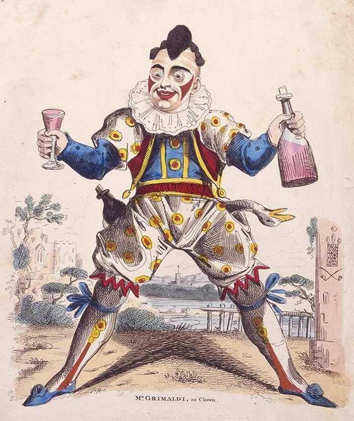 A painting depicting Joseph Grimaldi as Clown Joey.