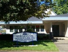Myrtle Creek is one of the Douglas County Branch libraries slated to close April 1st.