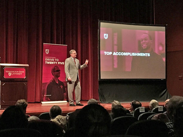 Washington State University President Kirk Schulz delivered his first State of the University address Wednesday.