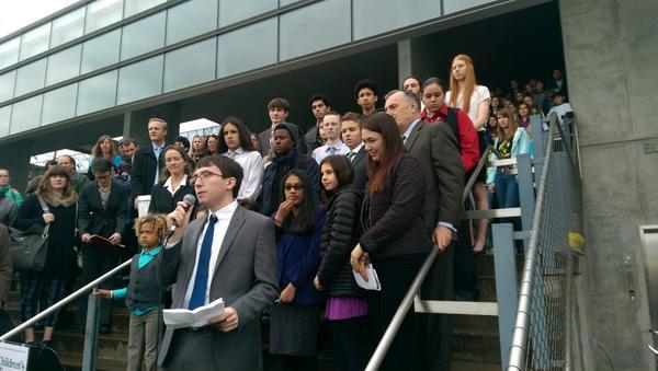 21 youth ages 8 - 20 are suing the federal government over climate change.