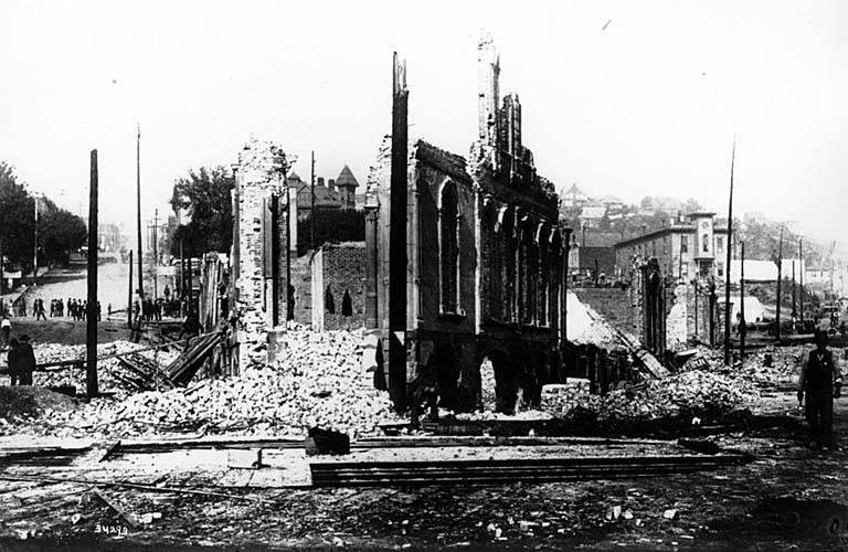Seattle, after its own great fire.