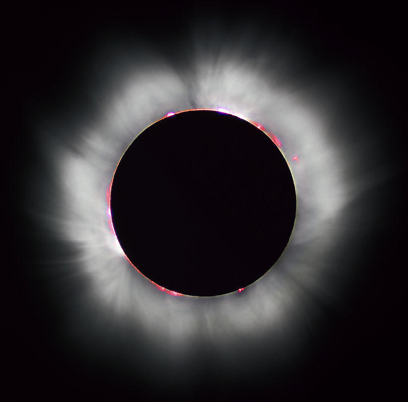 Example of a solar eclipse.
