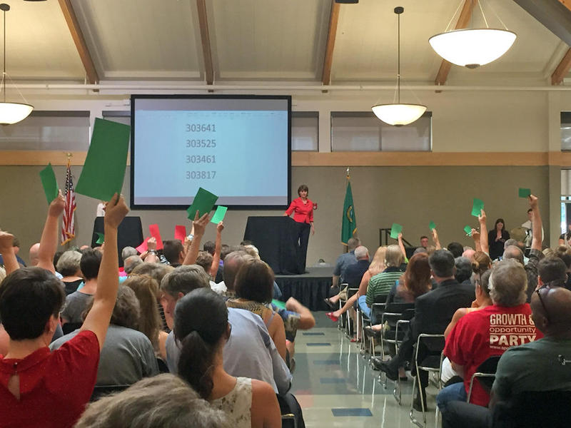 Rep. Cathy McMorris Rodgers hosted her first town hall of the year on Thursday night in front of 300 residents of Washington's 5th congressional district.