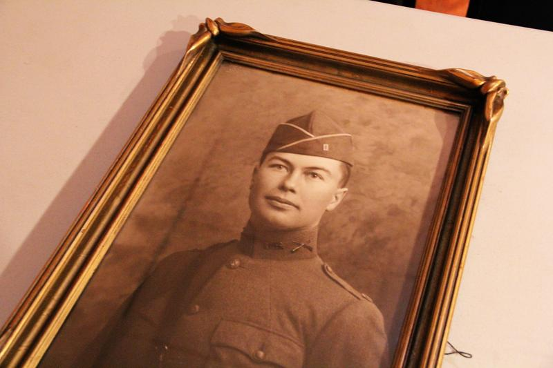 The official Army portrait of Logan Wheeler that hangs in the American Legion building. The portrait was donated by William A. Hughes whose mother and father were friends of Logan's.