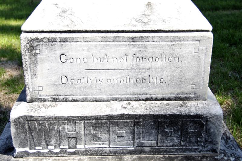 Because of Mark O'English discovering Logan Wheeler's scrapbook, the quote on his family tomb stone truly resonates.