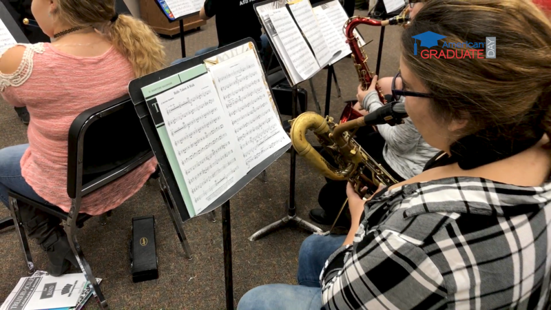 The Garfield-Palouse High School band warms up