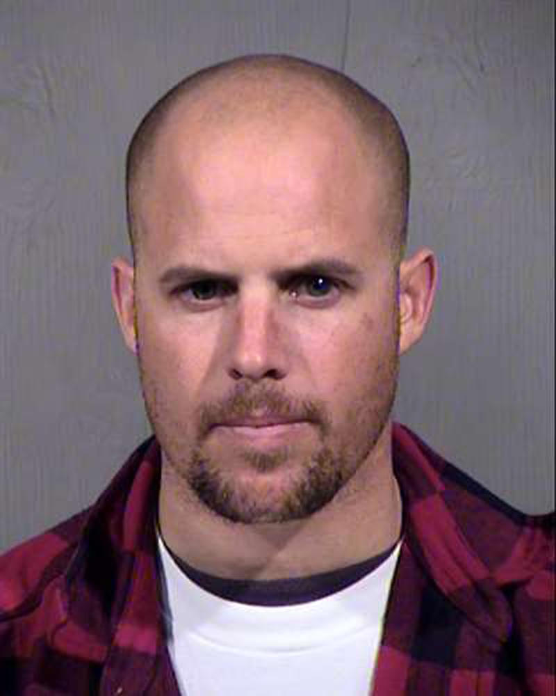 This photo, provided by the Maricopa County Sheriff's Office shows Jon Ritzheimer, who was arrested in Arizona on Jan. 26, 2016, in connection with the occupation of the Malheur National Wildlife Refuge in Oregon.