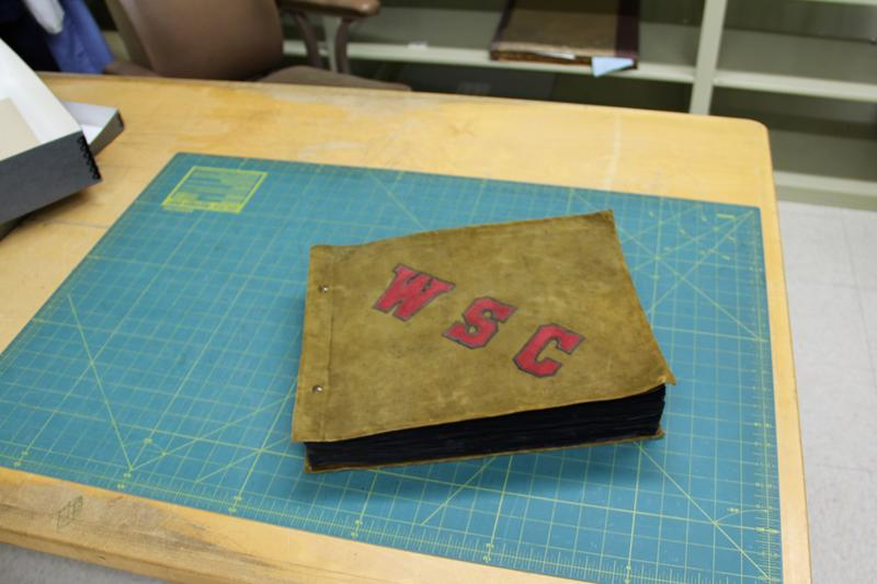 Logan Wheeler's scrapbook that Mark O'English discovered.
