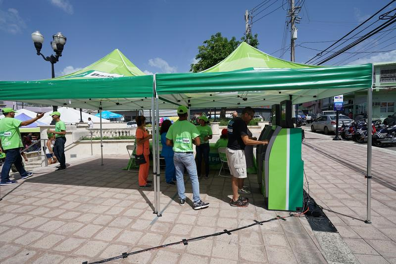 A Puerto Rican bank traveled with the mobile Wi-Fi caravan to set up a ''pop-up ATM.'' Remote towns without connectivity operate in a cash economy.