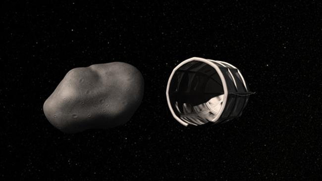 Small, water-rich, Near-Earth Asteroids can be captured by spacecraft, allowing their resources to be extracted.