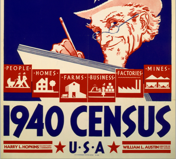 Excerpt of a 1940 Census Poster