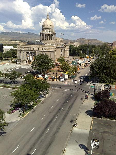 The Idaho State Capitol Building.