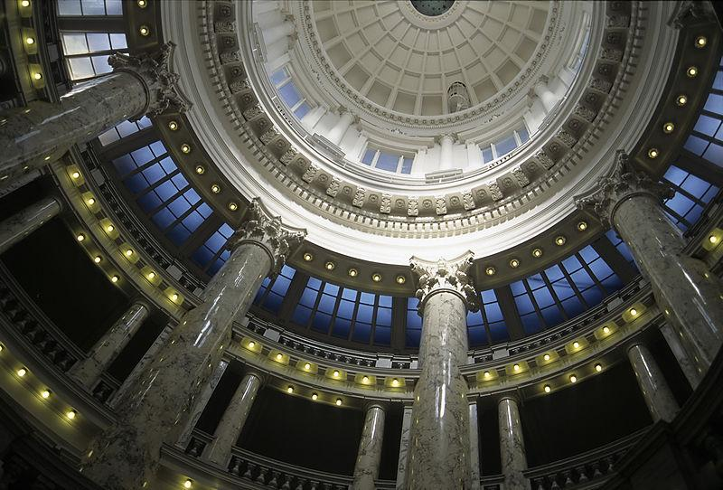 The inside of the Idaho State Capitol Dome.