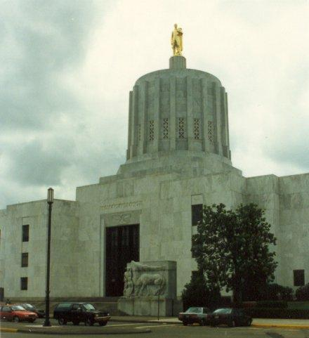 Oregon State Capitol in Salem, Oregon.