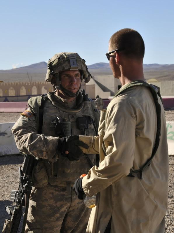 On left, Staff Sgt. Robert Bales