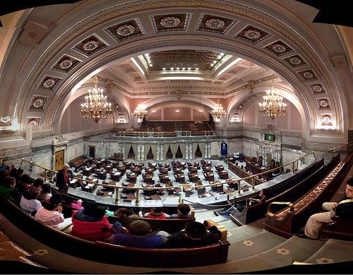 The Washington Senate chamber and public gallery.