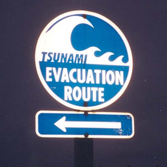 A tsunami drill sent people to higher ground.