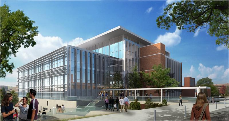 Graphic of the proposed science center at the University of Idaho.