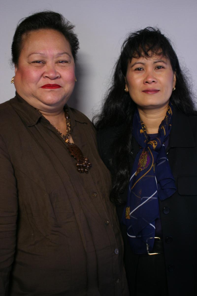 Fauluaina Pritchard and Sinoun Hem
