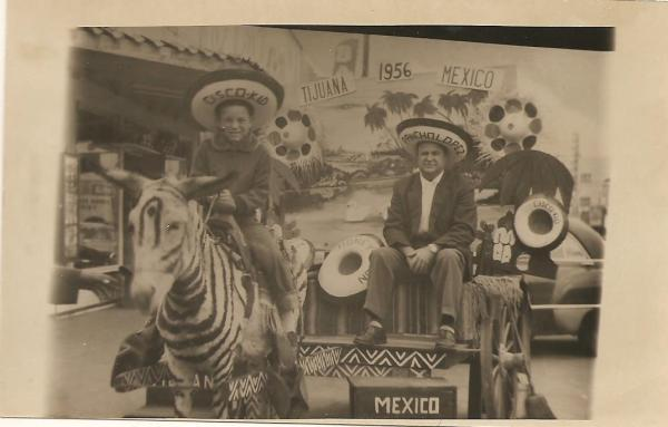 A young Bruce Bradberry on a zonkey in Tijuana while on vacation with his Dad.