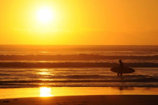 Jenni Chaffin submitted this photo of a sunset on the surf at Newport Beach, Oregon for Northwest Public Radio's Tumblr.