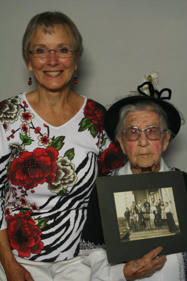 Ardith Carratt (left) has written two books about Margaret Hakel, who celebrated her 102nd birthday in August 2013.