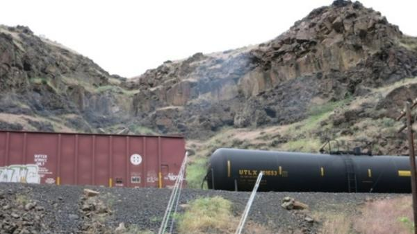 Michael Lang of Friends of the Gorge says each of the oil tanker cars he saw along the Deschutes May 4 had the telltale number 1267 – denoting crude oil cargo.