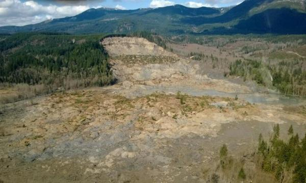 The Oso landslide area.