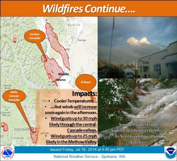 Map of Washington wildfires. http://www.wrh.noaa.gov/FXC/wxstory.php?wfo=otx
