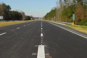 N.C. 44, the first section of the future U.S. 70 Goldsboro Bypass, now open to traffic north of Goldsboro from I-795 to Wayne Memorial Drive.