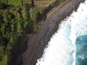 photo of Azores coastline from the research drone