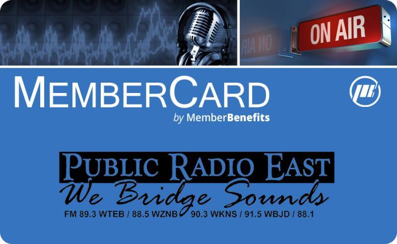 Public Radio East Membercard
