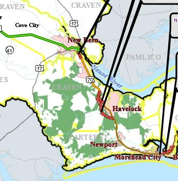 NCDOT Receives Feedback On US 70 Bypass In Havelock Public