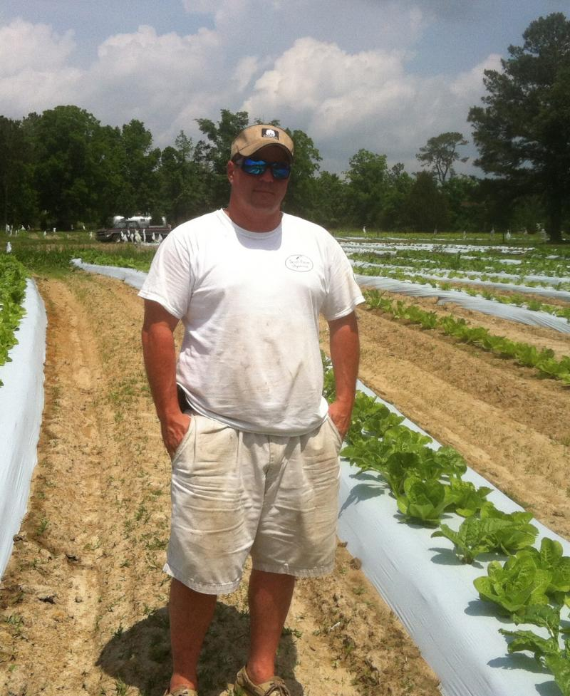 Trent Scott, owner of Scott Organic Farms in Rhems, NC