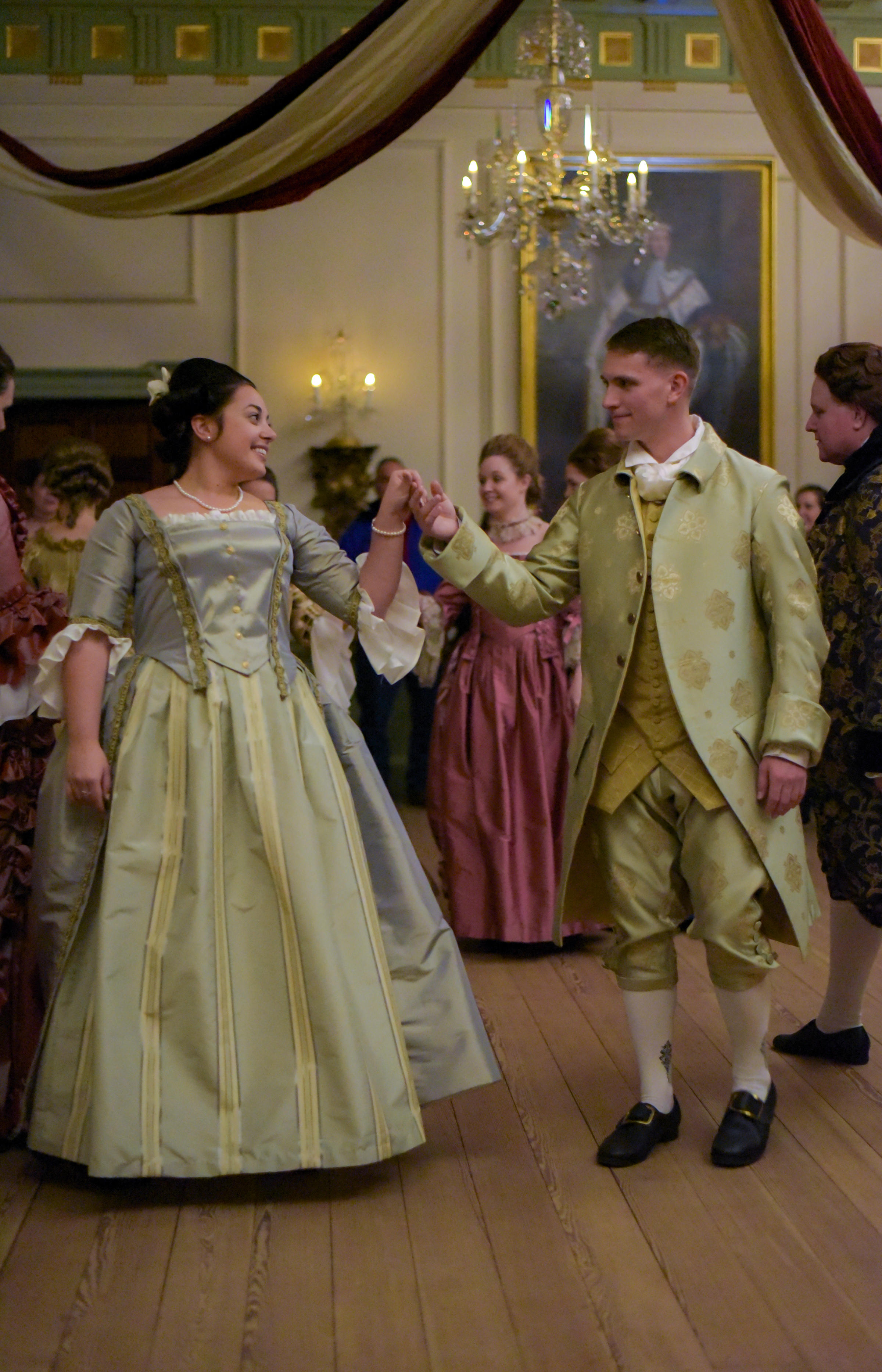 Christmas gown ideas 18th - Dancers In 18th Century Attire Dance In The Governor S Palace Council Chamber During Night One Of The 2016 Candlelight Colonial Christmas Celebration At