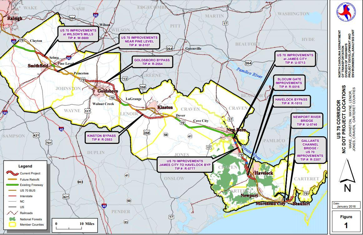 enc highway updates to get almost 150 million in federal funds