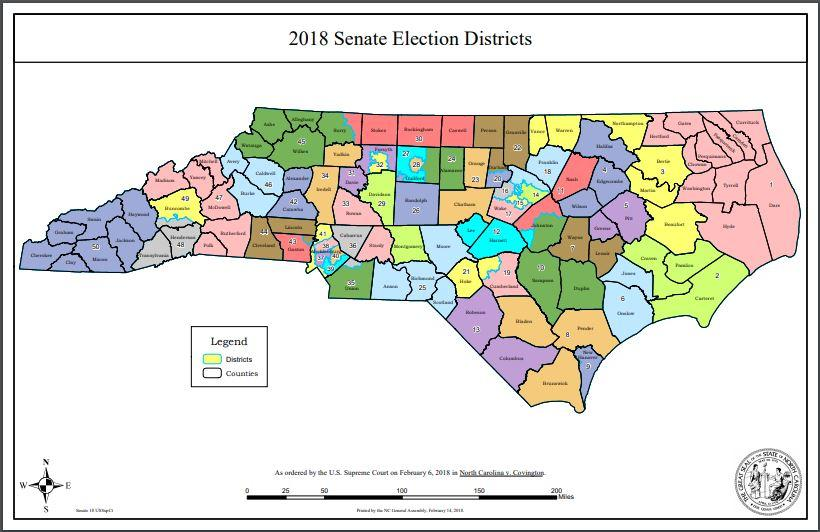 2018 NC General Assembly District Maps | Public Radio East