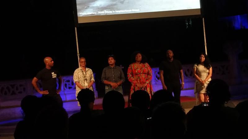 Contributors from left to right: Wallace Peeples, Diane Bridges, Corem Coreano, Jos Duncan, Khalil Munir, and Catzie Vilayphonh.