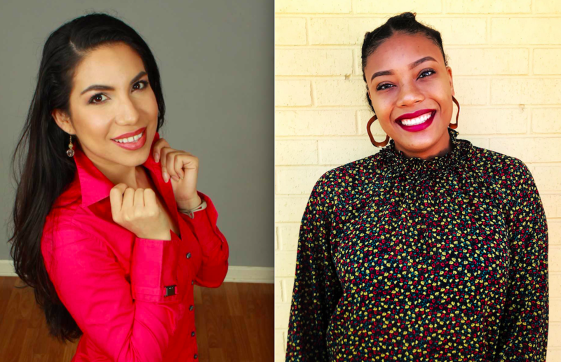 Aracei Gomez-Aldana (left) and DaLyah Jones (right). Be sure to offer congratulations and high fives when you see them at PRNDI this year.