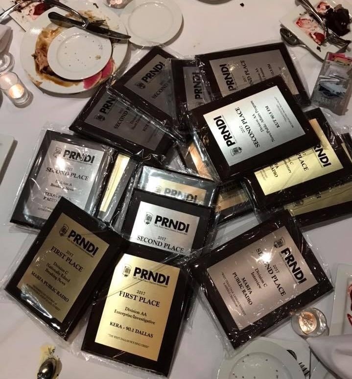 The PRNDI awards collected from member stations in Texas.