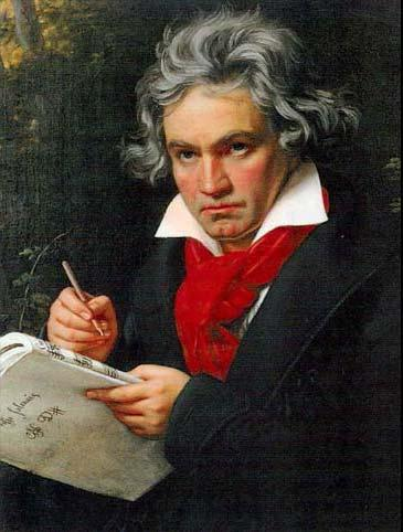 1820 Portrait of Ludwig van Beethoven by Joseph Karl Stieler