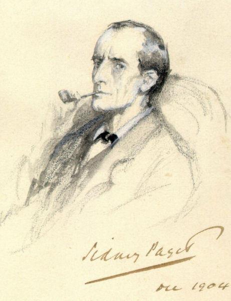 Portrait of Sherlock Holmes by British illustrator Sidney Paget, 1904