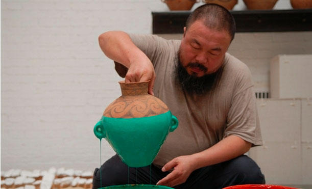 "Ai Weiwei ""Colored Vases"", 2006. (in process) Courtesy of the artist and the Hirshhorn Museum and Sculpture Garden."
