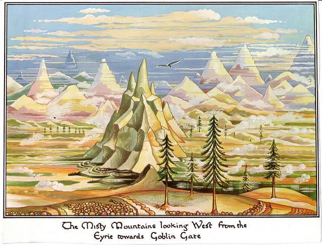 An illustration by J.R.R. Tolkien for <i>The Hobbit</i>